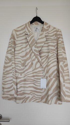 NP300€ Anine Bing Leinen Baumwolle Blazer Linen Oversized M-L, Beige Nude Offwhite Sand Designer Stylisch