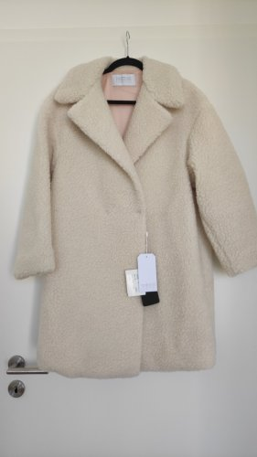 NP360€ Harris Wharf Teddy Coat Mantel Offwhite Weiß Oversized Stylisch Klassiker Wolle M L Designer Shearling