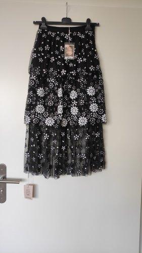 self - portrait Koronkowa spódnica biały-czarny