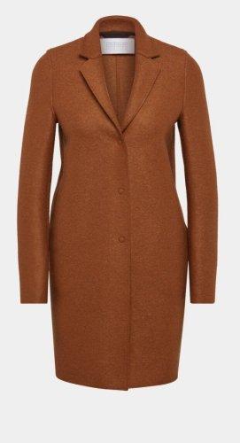 NP400€ Harris Wharf Kurzmantel 100% Wolle Cognac Camel Reverskragen Oversized Designer