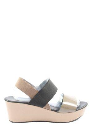 NR/Rapisardi Platform Sandals striped pattern casual look