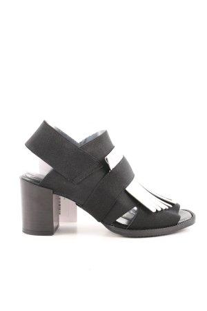 NR/Rapisardi Slingback-Pumps schwarz-weiß Casual-Look