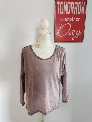 Nrud Made in Italy Damen Vintage Look Langarmshirt Longsleeve Größe 40 NEU