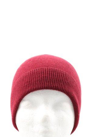 ns...cashmere Sombrero de punto rojo look casual