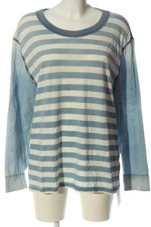 NSF Gestreept shirt blauw-wit gestreept patroon casual uitstraling