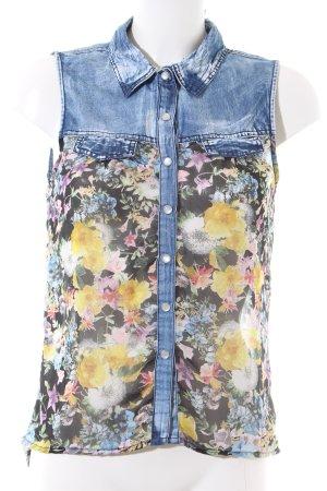 NT Fashion Kurzarm-Bluse Blumenmuster Casual-Look