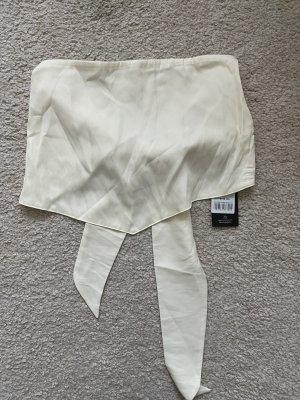 Nu-in Scarf tie top crop off white