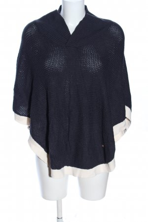 nuanique Poncho schwarz-creme Casual-Look
