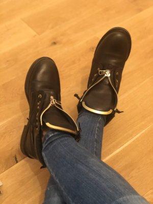 Nubikk Boots Leder Schwarz - Rocker Style