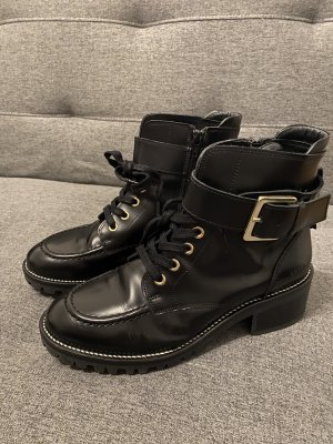 Nubikk Botas de tobillo negro Cuero