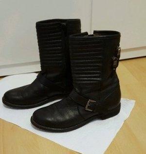 Nubikk Leder Boots Schuhe Größe 39 schwarz Stiefeletten