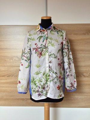 Nude Blumen Streifen Bluse von Zara, Gr. XS (NEUw.)