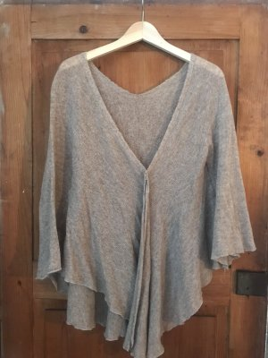 Nude/ cremefarbener Oversize Pullover/ Ponch