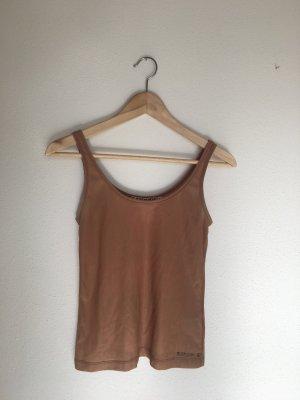 Nude hellbraun Hautfarbe braun Träger Top Oberteil Shirt ärmellos