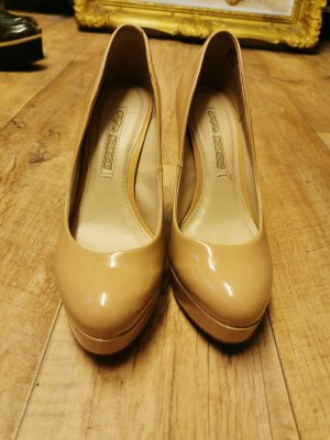 Buffalo High Heels cream leather