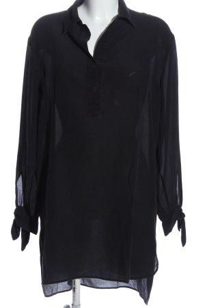 Nude Jedwabna bluzka czarny W stylu casual