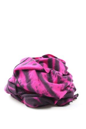 Nude Strickschal schwarz-pink Streifenmuster Casual-Look