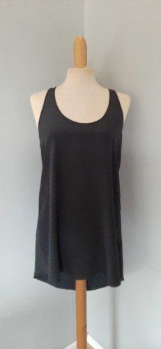 NUDE top oberteil shirt dress silk seide schwarz gr.M