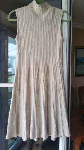 Made in Italy Sukienka bez ramiączek w kolorze białej wełny