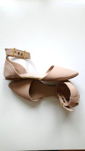 Ballerina aperta sul tallone oro-color carne