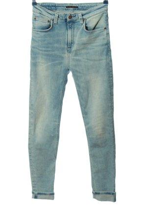 Nudie jeans High Waist Jeans blau Casual-Look