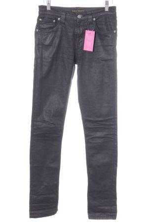 Nudie jeans Hüfthose schwarz Casual-Look