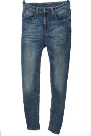 Nudie jeans Röhrenjeans blau Casual-Look