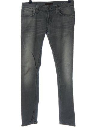 Nudie jeans Röhrenjeans hellgrau Casual-Look