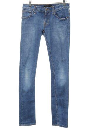 Nudie jeans Röhrenjeans blau Jeans-Optik