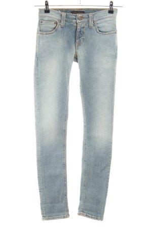 Nudie jeans Skinny Jeans blau Casual-Look