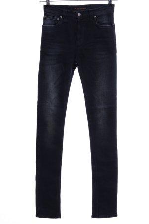 Nudie jeans Skinny Jeans schwarz Casual-Look