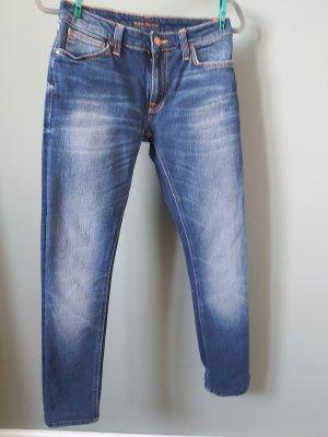 Nudie jeans Tube Jeans steel blue-azure cotton