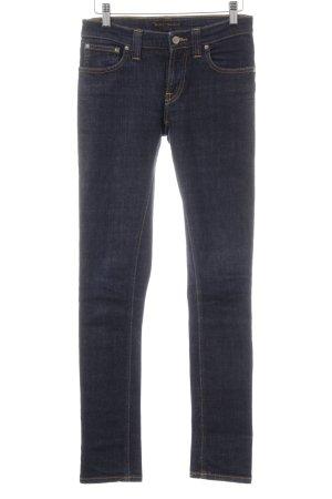 Nudie jeans Slim Jeans dunkelblau Casual-Look