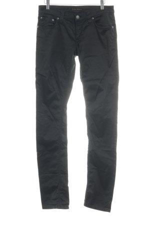 Nudie jeans Stoffhose schwarz Casual-Look