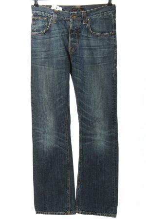 Nudie jeans Straight-Leg Jeans blau Casual-Look