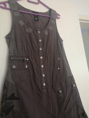 nü by staff-woman Jeansowa sukienka szary-ciemnoszary