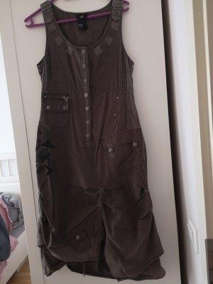 nü by staff-woman Robe en jean gris-gris foncé
