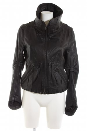 nü by staff-woman Lederjacke schwarz Casual-Look