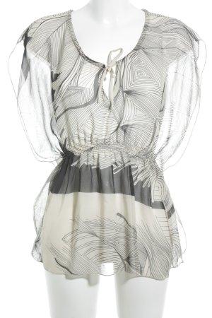 nü by staff-woman Tunikabluse hellbeige-grau abstraktes Muster Casual-Look