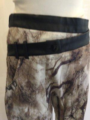 nü Pantalon chinos noir-beige coton