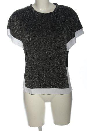 NÜ Denmark ärmellose Bluse silberfarben-weiß Casual-Look