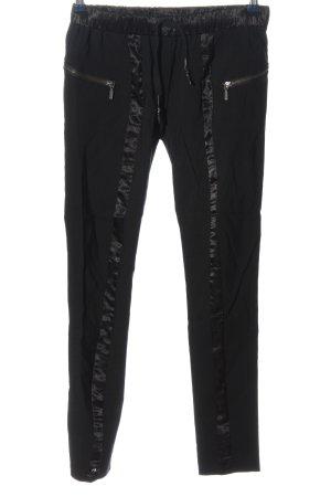 NÜ Denmark Pantalon taille basse noir style décontracté