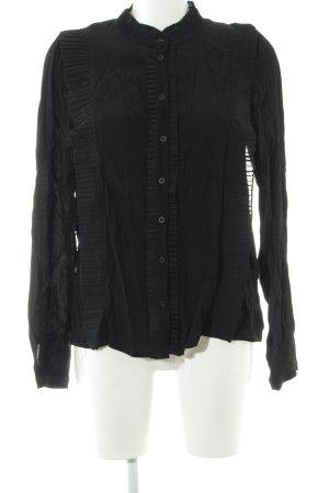 NÜ Denmark Langarm-Bluse schwarz Casual-Look