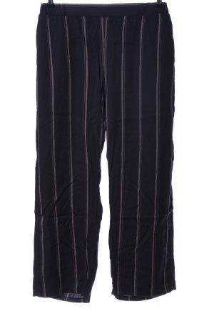 NÜ Denmark Stoffhose schwarz-pink Streifenmuster Casual-Look