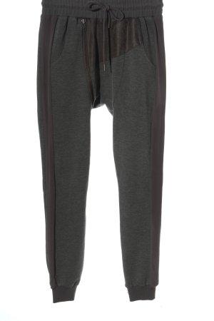 NÜ Denmark Pantalon de jogging gris clair-brun style décontracté