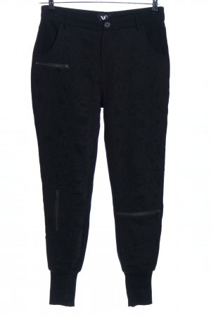 NÜ Denmark Joggingbroek zwart bloemenprint casual uitstraling