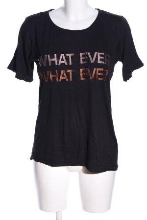 NÜ Denmark T-Shirt Schriftzug gestickt Casual-Look