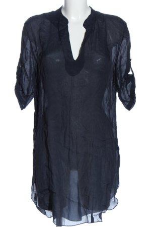NÜ Denmark Transparenz-Bluse blau Casual-Look