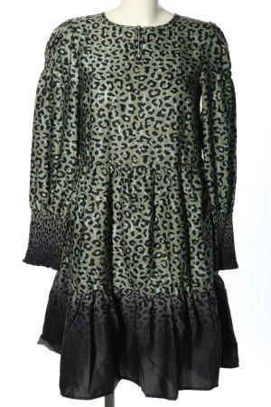NÜ Denmark Tunikakleid khaki-schwarz Leomuster Casual-Look