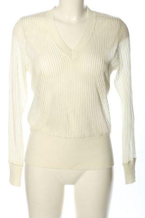 NÜ Denmark V-Ausschnitt-Pullover wollweiß Casual-Look